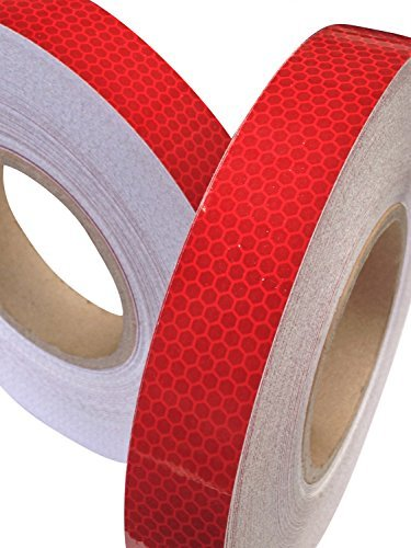 Hi Viz High Intensity Reflective Tape Red 25mm X 2.5m Weatherproof Strong
