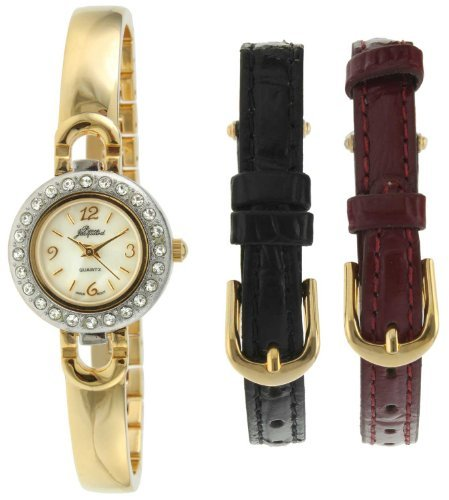 - Pierre Jacquard ST3 Women's Gold-Tone Half Bangle Gift Set Watch