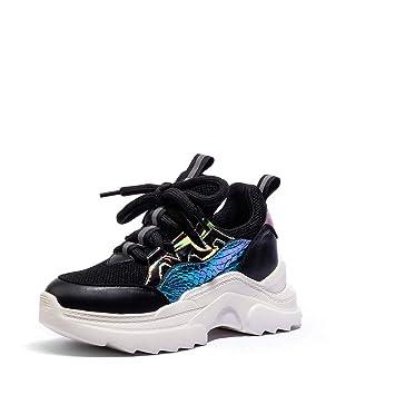 más fotos 70d94 764d8 XLY Zapatillas de Deporte de papá para Mujer Zapatos de ...