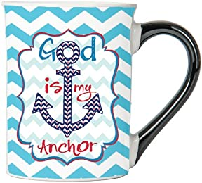 God Is My Anchor Mug, Inspirational Coffee Cup, Inspirational Mug, Ceramic Mug, Custom Inspirational Gifts By Tumbleweed