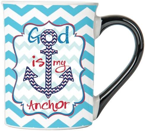 God Is My Anchor Mug, Inspirational Coffee Cup, Inspirational Mug, Ceramic Mug, Custom Inspirational Gifts By Tumbleweed