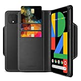 Maxboost mWallet Designed for Google Pixel 4 XL Case (2019, 6.3-inch) [Folio Cover] Premium Leather Credit Card Wallet Holder Compatible with Pixel 4 XL Flip Cover Side Pocket Magnetic Closure - Black