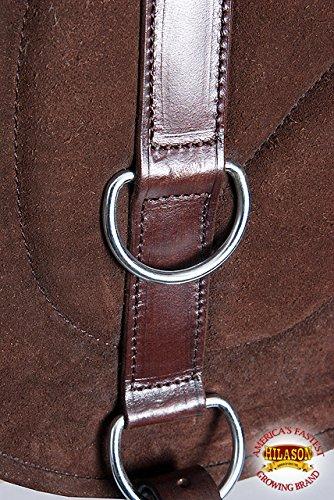 HILASON Natural Horsemanship Leather Bareback Western Treeless Saddle Pad