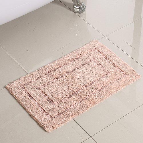 Household mats carpets of pure wool thicker bathroom door mats door mats long hair mat -4570cm Lavender by ZYZX