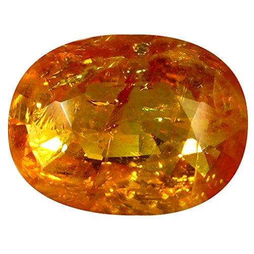 2.50 ct PGTL Certified Oval Shape (10 x 8 mm) Ceylon Orange Yellow Sapphire Natural - Orange Sapphire Ceylon