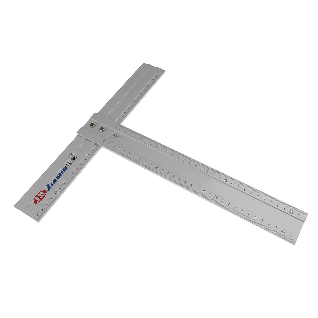 Dovewill 12Inch Precision Aluminum Alloy T Square Advertising Drafting Measuring Ruler