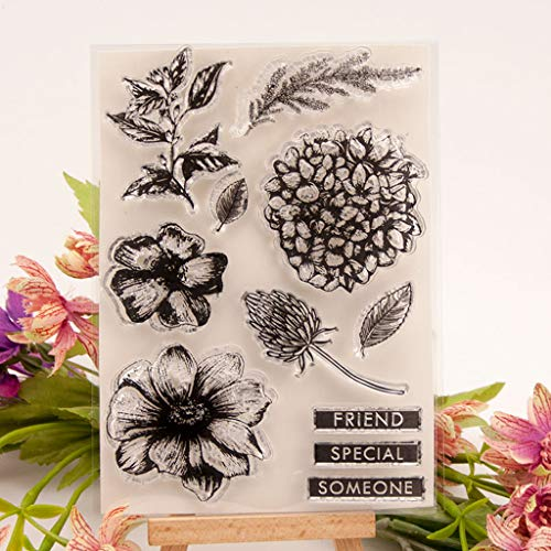 Welcome to Joyful Home 1pc Daisy Flower Rubber Clear Stamp for Card Making Decoration and Scrapbooking