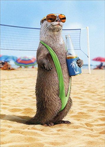 (Otter Wearing Mankini Avanti Humorous/Funny Birthday Card for Him)