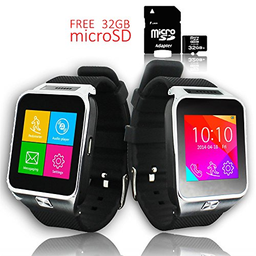 (Indigi Factory UNLOCKED! SmartWatch&Phone Organizer+MP3+WiFi+Bluetooth - Free 32gb SD)