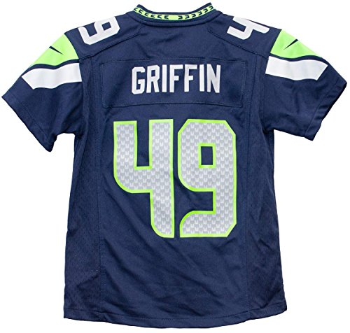 NIKE Shaquill Griffin Seattle Seahawks Team Color Youth Game Jersey (Youth Small 8)