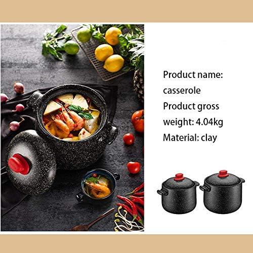 ZJZ Isolation en céramique de Pot de Cuisson de Pot de Casserole, Fait à la Main, Pot de Soupe en céramique de Corps épais de Pot