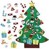 3ft DIY Felt Christmas Tree Set + 26pcs Detachable Ornaments, Wall Hanging Xmas Gifts for Christmas Decorations