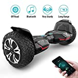 Gyroor Warrior 8.5 inch All Terrain Off Road Hoverboard Bluetooth Speakers LED Lights, UL2272 Certified Self Balancing Scooter 2018(Black)