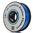 3D Solutech Real Blue 3D Printer PLA Filament 1.75MM Filament, Dimensional Accuracy +/- 0.03 mm, 2.2 LBS (1.0KG) - 100% USA
