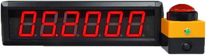 LEDスポーツタイマー 桁間隔タイマープログラム可能なLedカウントダウンアップホームジムの多機能ストップウォッチ デジタルスポーツタイマー (色 : ブラック, サイズ : 36X10X4CM) ブラック 36X10X4CM