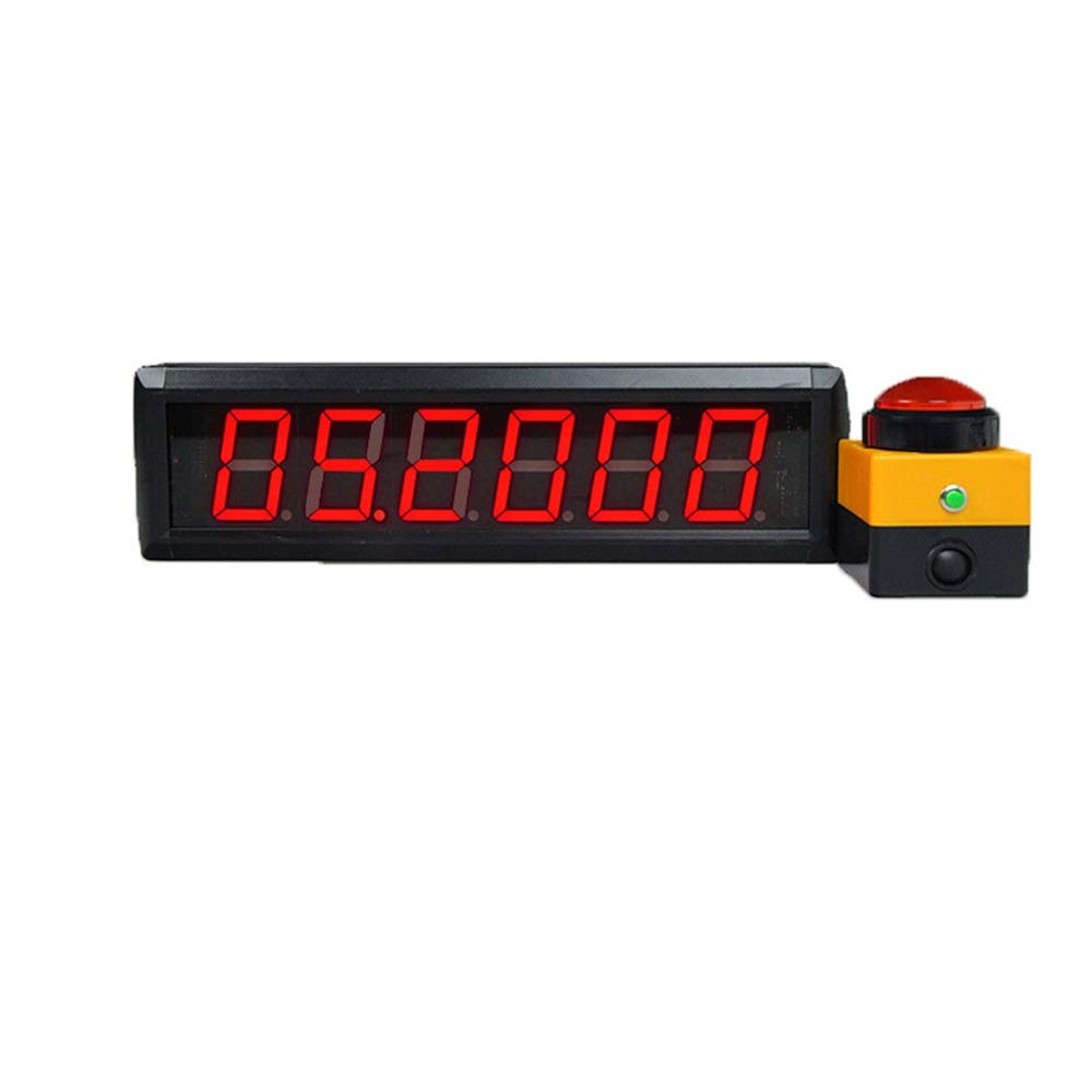 Large Digital Clock Digits Interval Timer Programmable Multifunctional Home Gym Led Countdown Up Stopwatch for Office School (Color : Black, Size : 36X10X4CM) by JIANGXIUQIN-Home