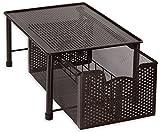 SimpleHouseware Stackable Cabinet Basket Drawer Organizer, Bronze