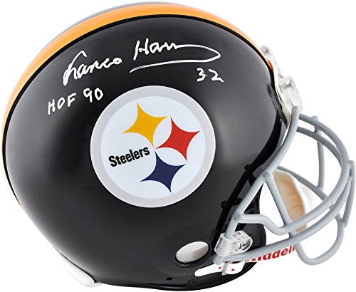 Franco Harris Pittsburgh Steelers Autographed Riddell Pro-Line Authentic Helmet with HOF 90 Inscription - Fanatics Authentic Certified
