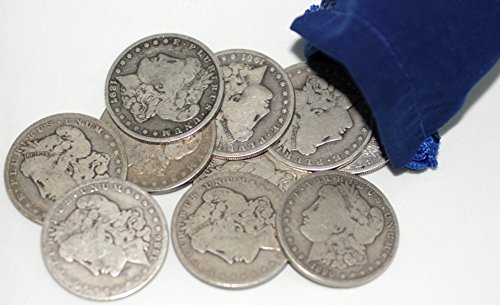 Morgan Dollar Collection of 10 Different Dates ()