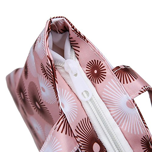 Women Canvas Youcoco Shoulder Soft Capacity Pink3 Bags Wide Handbag Bags Zipper Shoulder Striped Large 6dqwZ