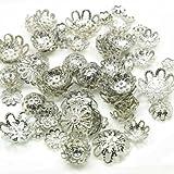 Imagine Perles - Coupelles métal filigrané argenté vieilli de 4 à 14 mm