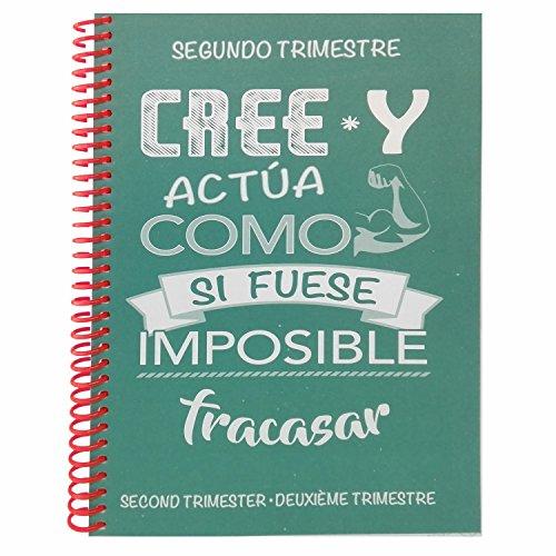Agenda escolar 18/19 semana vista - Frases positivas: Amazon ...
