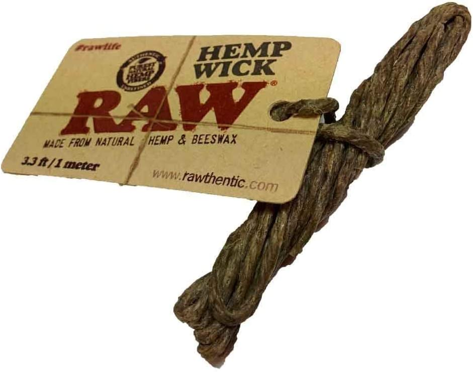 Raw Hemp Wick Made by All Natural Beeswax by SOS 1 Meter Pack