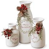 Holiday Antique Style Milk Bottles Set