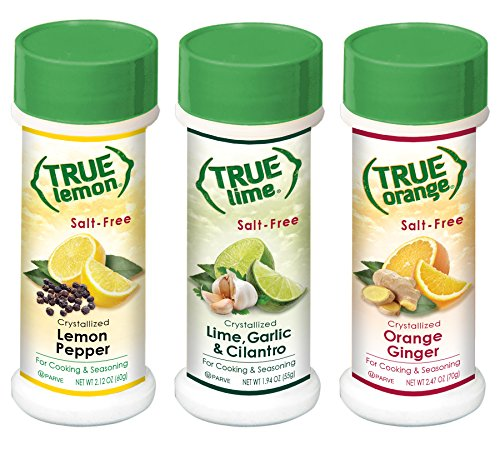 True Lemon Pepper, Orange Ginger, Lime Garlic Cilantro Spice Shaker Kit by True Citrus