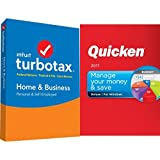 TurboTax Home & Business 2016 Tax Software Federal & State + Fed Efile PC/MAC Disc [Amazon Exclusive] with Quicken Deluxe 2017 Download