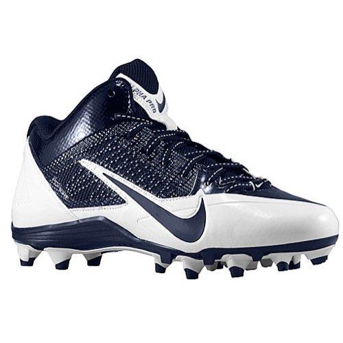 promo code 34bf9 4c100 Nike Mens Alpha Pro 34 TD Football Cleat (10 M US, NavyWhite)