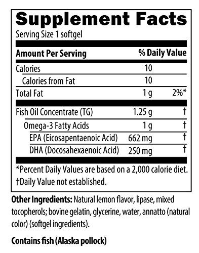 Designs for Health - OmegAvail TG1000 - 1000mg Triglyceride (TG) Fish Oil, 60 Softgels by designs for health (Image #4)