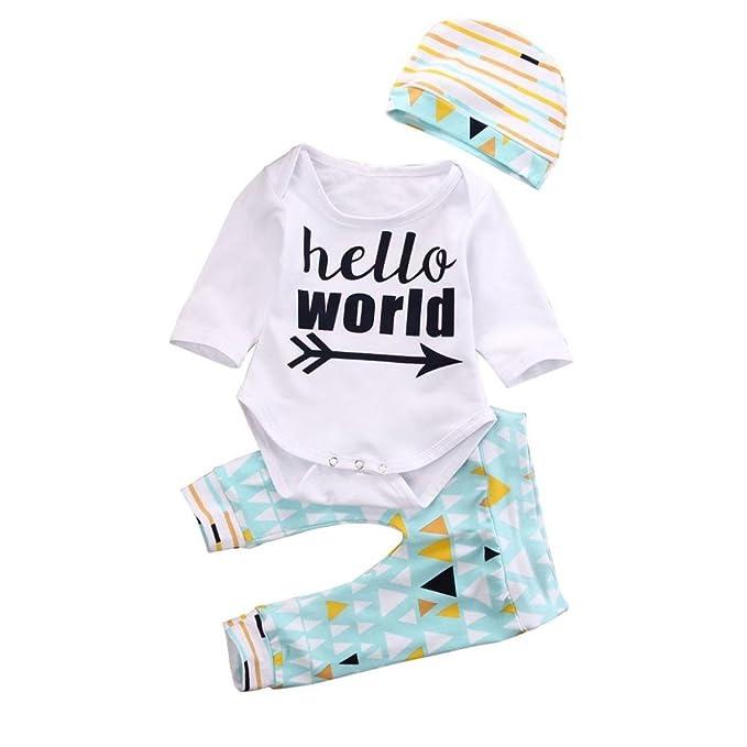 hunpta infantil bebé niña niño letras Pelele + Geometría Pantalón Outfit Ropa Set: Amazon.es: Ropa y accesorios