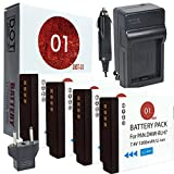 DOT-01 4X Brand Panasonic Lumix DC-GF10 Batteries and Charger for Panasonic Lumix DC-GF10 Mirrorless and Panasonic GF10 Battery and Charger Bundle for Panasonic BLH7 DMW-BLH7