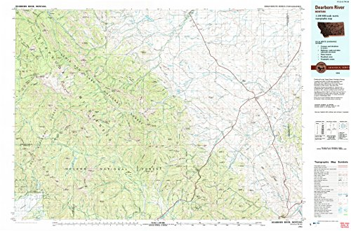 Dearborn River MT topo map, 1:100000 scale, 30 X 60 Minute, Historical, 1993, updated 1993, 24.1 x 36.5 IN - - Fairview Allen