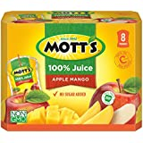 Mott's 100% Apple Mango Juice, 6.75 fl oz pouches, 4 count (Pack of 8)