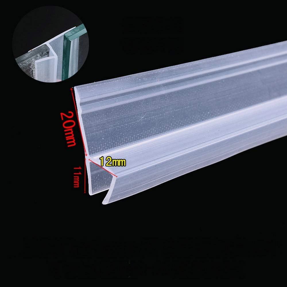 Color : Transparent, Size : 3M Joint Douche 6 8 10 12mm en verre Joints Frameless Douche porte fen/être Balcon /écran d/étanch/éit/é Bande Weatherstrip Projet Stopper Big h