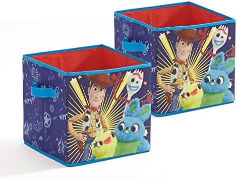 Disney Toy Story 4 2 Pack Storage Cubes, Multi