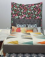 51 X 60 Kess InHouse Heidi Jennings Too Much Pink Magenta Floral Wall Tapestry