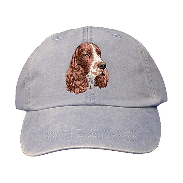 Cherrybrook Periwinkle Dog Breed Embroidered Adams Cotton Twill Caps (All Breeds) 1