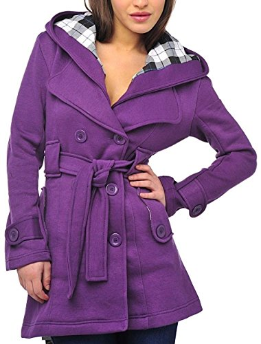 Hood 8 Women Belted Button SD C Jackets Coats with Sewing Hooded Coats Riding for Jacket Purple for for 14 Instructions Neoprene Children Shorty for Plain Women's Wall q8IwrgIZ