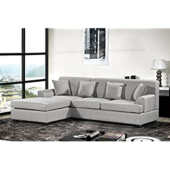 Amazon Modern Velvet Sectional Sofa L Shape Couch with