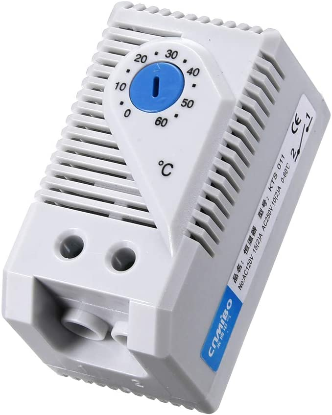 uxcell Mechanical Thermostat, KTS011 0-60°C Adjustable Compact Normally Open(N.O) Temperature Controller Switch