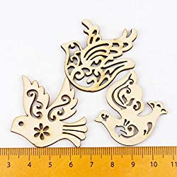 for Parrot - Mix En Bird Pattern Scrapbooking Art Collection Craft for Handmade Accessory Sewing Home Decoration 31x33mm 20pcs Mt1566-