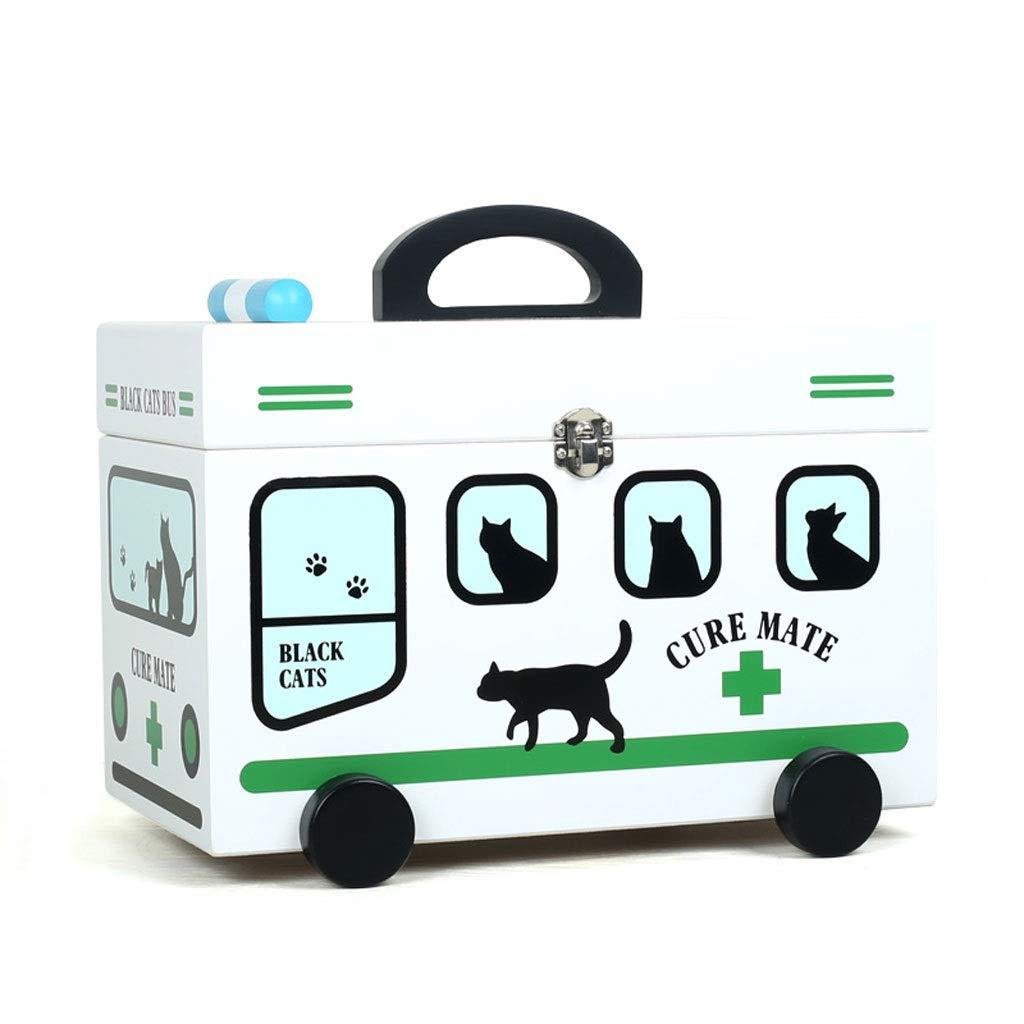 薬箱家庭用薬収納ボックス子供漫画かわいい大容量応急処置キット医療ボックス HUXIUPING (Color : Green)  Green B07TPJVYRP