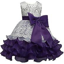Little Girls Lace Crochet Birthday Party Flower Girl Dress