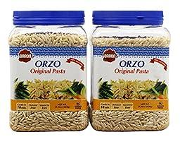 Baron\'s Kosher Original Orzo Pasta 21.16-ounce Jars (Pack of 2)