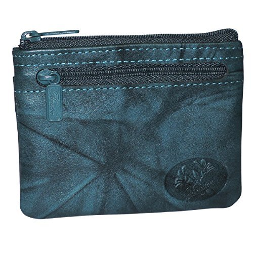 Buxton Heiress Pik-Me-Up I.D. Coin/Card Case, deep Teal by Buxton (Image #1)