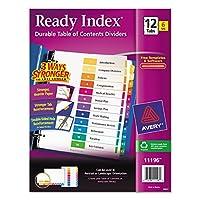 Avery Ready Índice Tabla de contenidos Divisores, Conjunto de 12 fichas, 6 Conjuntos (11196)
