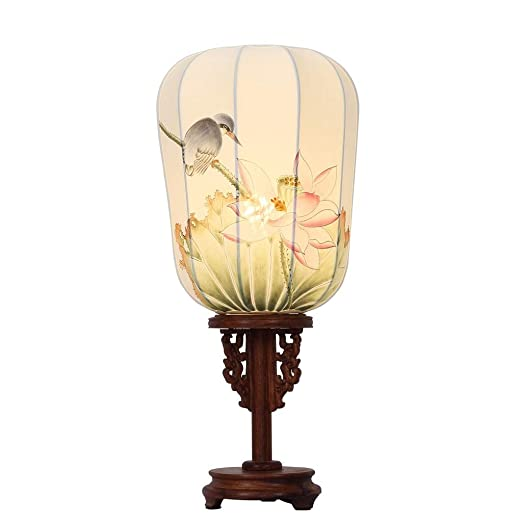 Lámparas de Escritorio Lámparas de Mesa y Mesilla Lámpara de caoba ...